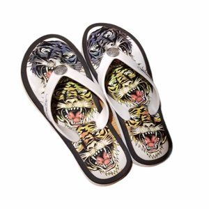 Women's ED HARDY Tiger Sandals (Size 7/7.5)
